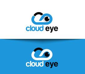 Cloud Eye Logo and Symbol Design