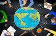 Leinwanddruck Bild - World Global Ecology International Meeting Learning Concept