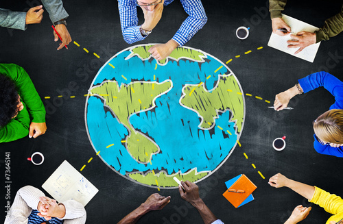 World Global Ecology International Meeting Learning Concept - 73645141