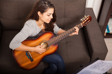 Playing some music with guitar