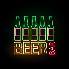 neon sign. Beer bar