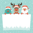 Tree, Rudolph & Santa Wishlist Snow Retro