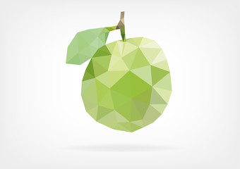 Low Poly Guava fruit