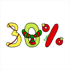 sale symbol for 30 % discount