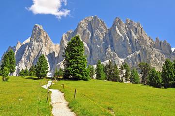 Road in Dolomites, Italy