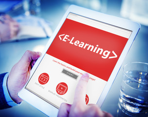 E-Learning Student Study Online SEO Concept