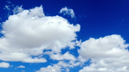 Clouds in the blue sky. TimeLapse