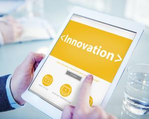 Digital Online Innovation Development Web Page Browsing Concept
