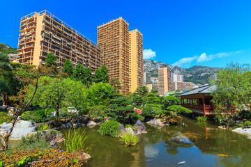 Japanese garden in Monte Carlo, Monaco,Europe