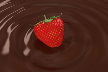 chocolate and strawberry