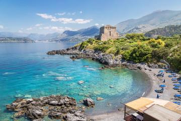 Beach at San Nicola Arcella, Calabria, Italy