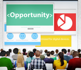 Opportunity Future Possible Offer Seminar Conference Concept