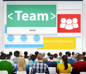 Team Teamwork Seminar Web Page Learning Conference Concept