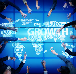 Global Business People Meeting Growth Concept