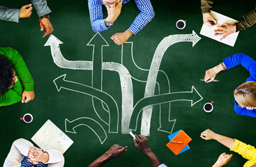 Direction Path Goals Aspiration Meeting Planning Concept