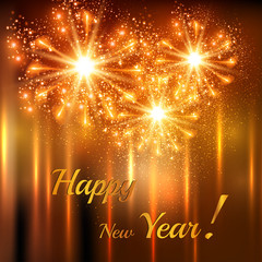 Happy New Year celebration background, easy editable