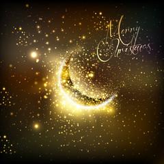 christmas and  moon, easy all editable