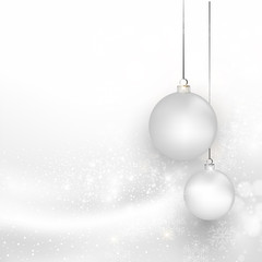 Christmas silver background with snowflake, easy all editable