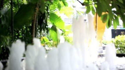 Close up of fountain in city park. Macro. HD. 1920x1080