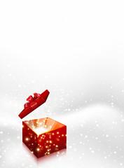Gift box Christmas vector background, easy editable