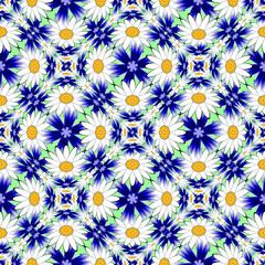 Design seamless colorful flower decorative pattern