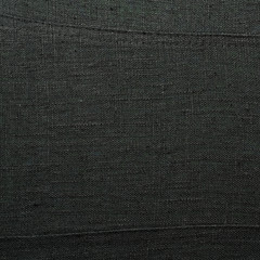 Black linen cloth fragment