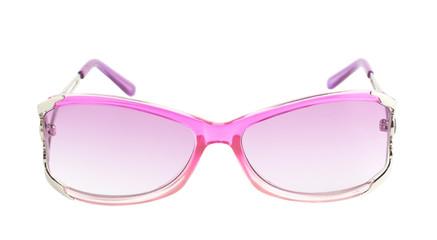 Stylish pink female glasses isolated