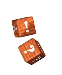 Würfel Holz - D - Frage - Antwort