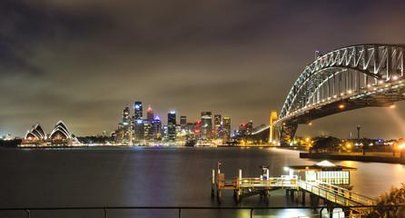 Sydney CBD Bridge Pier Pan dark
