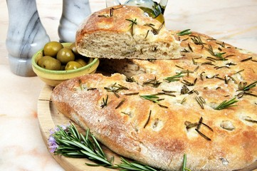 Rosemary focaccia bread © Arena Photo UK