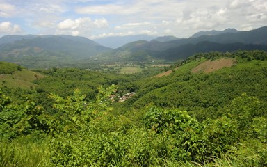 Northern Laos Upland cultivation area