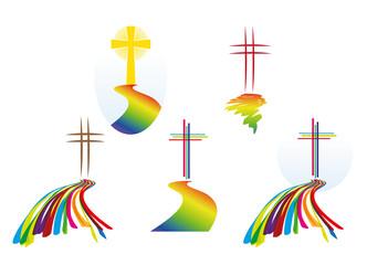 Loghi - croci - culto - fede cristiana