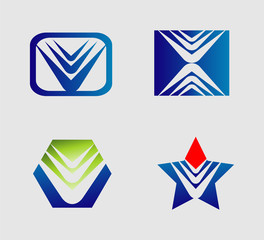 Abstract logo Icon element