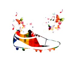 Colorful soccer boots design