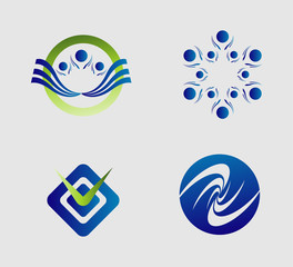 Element logo set abstract