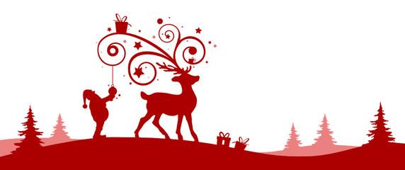 Silhouette Weihnachten Elche