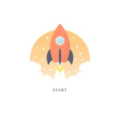 Start. Vector illustration.