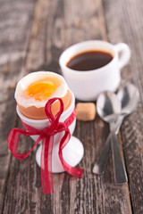 egg and coffee cup