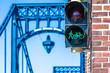 Grüne Ampel für Radfahrer und Fußgänger