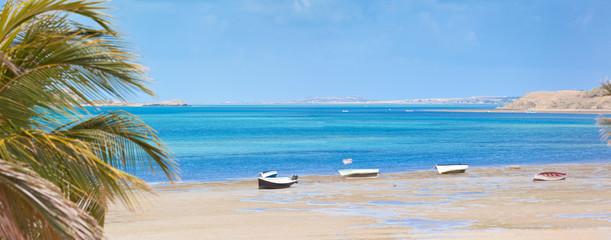 anse Mourouk à marée basse, île Rodrigues