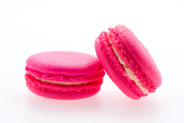 Macaroons isolated on white