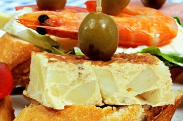 Spanish tortilla pincho © Arena Photo UK