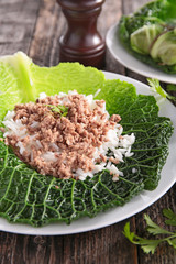 cabbage,rice and meat