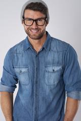 Stylish man wearing like a hipster