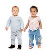 Cute babies standing