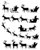 Santa Claus sleigh set