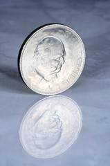 Churchill coin © Arena Photo UK