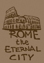 Rome the eternal city vintage