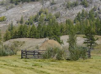 Стог сена в долине