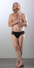 portrait of a man without clothes